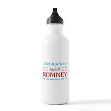 Michiganian Against Romney Water Bottle