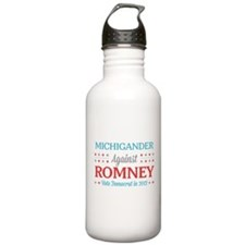 Michigander Against Romney Water Bottle