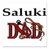 "saluki dad trans.png Square Car Magnet 3"" x 3"""