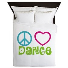 Peace Love Dance Queen Duvet