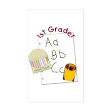 First Grader Rectangle Decal