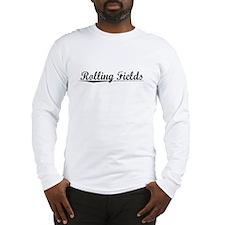 Rolling Fields, Vintage Long Sleeve T-Shirt