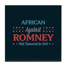 African Americans Against Romney Tile Coaster