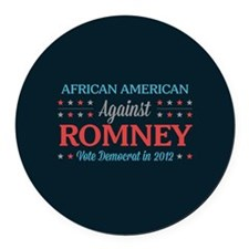 African American Against Romney Round Car Magnet