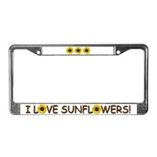 Helaine's Sunflower License Plate Frame