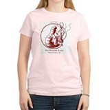 Hookah Smoking Caterpillar Women's Pink T-Shirt