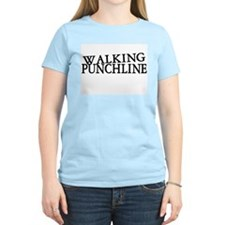 Walking Punchline Women's Pink T-Shirt