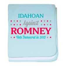 Idahoan Against Romney baby blanket