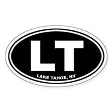 LT (Lake Tahoe) Oval Decal