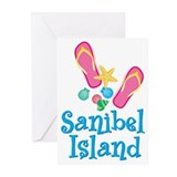 Sanibel Flip-Flops Greeting Cards (Pk of 10 )