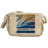 blue seagrass Messenger Bag