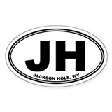 JH (Jackson Hole) Oval Decal