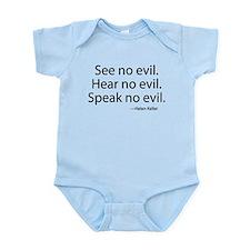 See no evil. Hear no evil. Speak no evil. Onesie