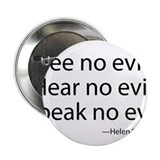 "See no evil. Hear no evil. Speak no evil. 2.25"" Bu"