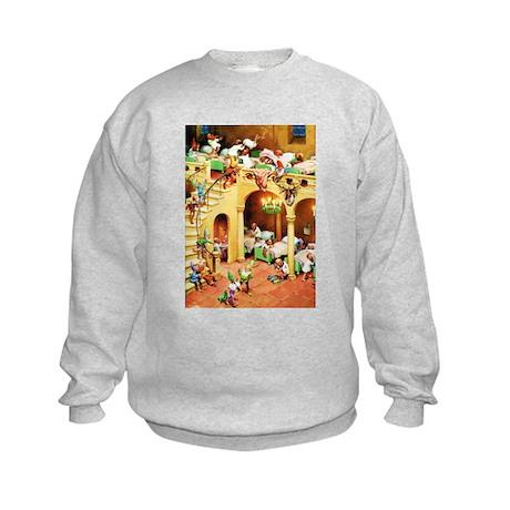 Santa's Elves at the North Pole Kids Sweatshirt