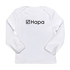 Check Hapa Long Sleeve Infant T-Shirt