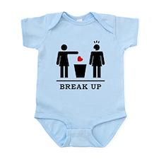 Break up - Broken Heart Girls 2c Infant Bodysuit