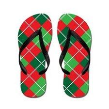 CCG Flip Flops (Holiday Argyle)