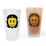 Che Smiley Icon Drinking Glass