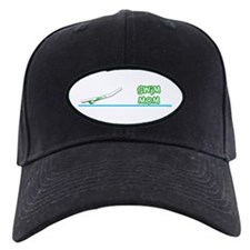 Swim Mom (girl) green suit Baseball Hat