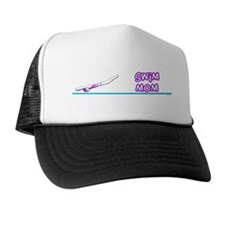 Swim Mom (girl) purple suit Trucker Hat
