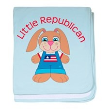 Little Republican baby blanket
