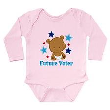 Future Voter Bear Long Sleeve Infant Bodysuit