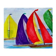 Colorful Regatta Sails Throw Blanket