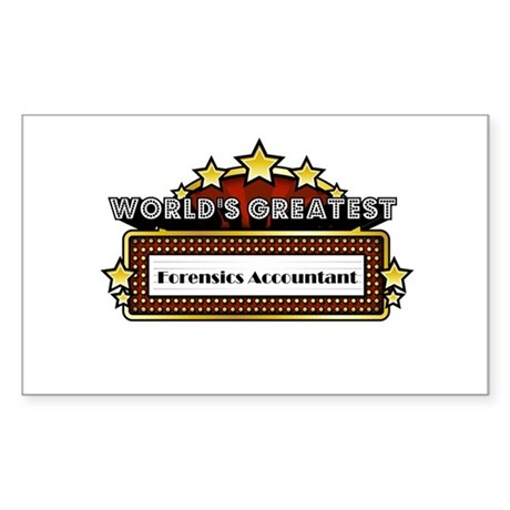 World's Greatest Forensics Accountant Sticker (Rec