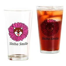 Shiba Smile Drinking Glass