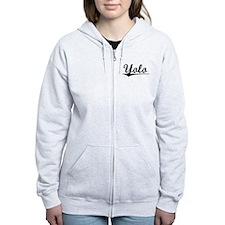 Yolo, Vintage Zip Hoodie