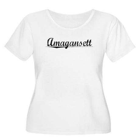 Amagansett, Vintage Women's Plus Size Scoop Neck T