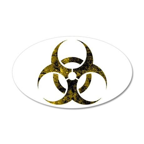 biohazards 20x12 Oval Wall Decal