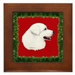 Great Pyrenees Holiday Framed Tile