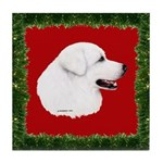 Great Pyrenees Holiday Tile Coaster