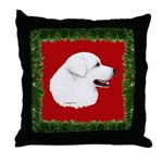 Great Pyrenees Holiday Throw Pillow