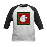 Great Pyrenees Holiday Kids Baseball Jersey