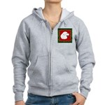 Great Pyrenees Holiday Women's Zip Hoodie