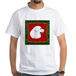 Great Pyrenees Holiday White T-Shirt