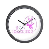 I Heart Easter Wall Clock