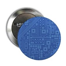 "Blue Circuit Board 2.25"" Button (10 pack)"