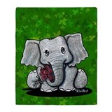 KiniArt Elephant Throw Blanket