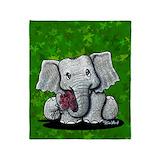 Elephant blankets Fleece Blankets