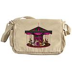 The Purple Carousel Messenger Bag