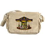 The Golden Carousel Messenger Bag