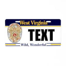 West Virginia Firefighter Custom License Plate