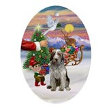 Santa's Treat for his Spinone Pup Oval Ornament