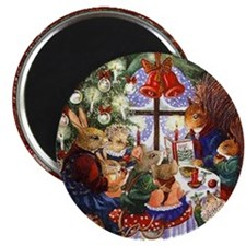 Mouse Family Holiday Magnets (10 pack)