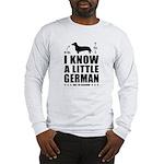 Little German! Dachshund 2-sided Long Sleeve T
