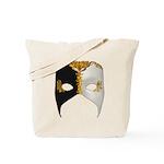 Venetian Mask: Black and White Tote Bag